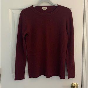 J. Crew cashmere crewneck sweater